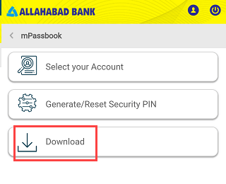 download Allahabad Account Statement