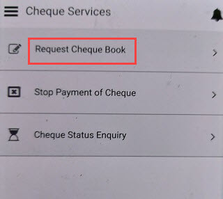 Andhra Bank Cheque Book Request