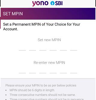 SBI YONO Reset MPIN