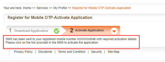 Bank of Baroda Mobile OTP Online
