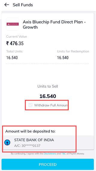 Paytm money SIP sell