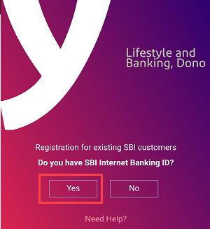 Register SBI YONO using ATM card