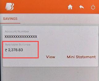 check bank of baroda account balance