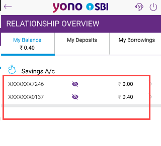 SBI check account balance
