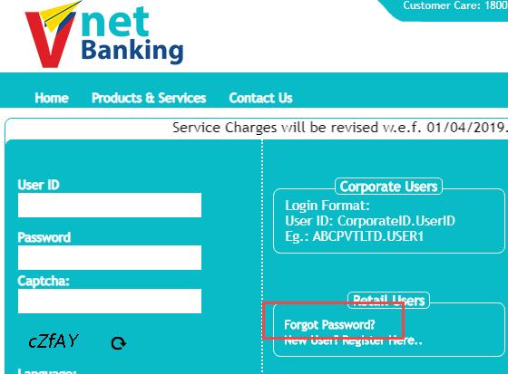 vijaya bank online banking login