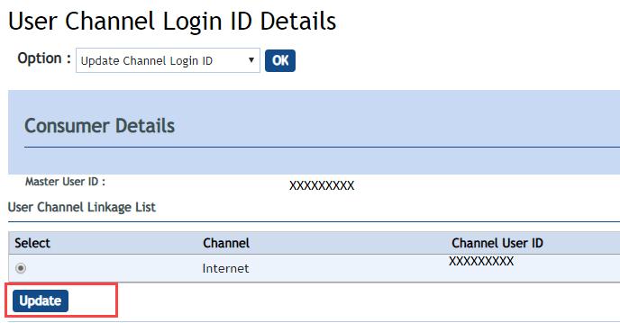 Vijaya Bank Internet Banking User ID