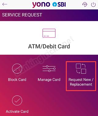 SBI YONO ATM Debit card apply