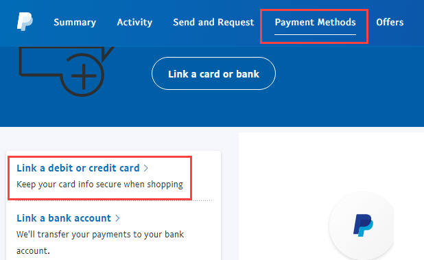 Register Debit Card With PayPal Account
