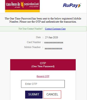 PNB debit card link paypal