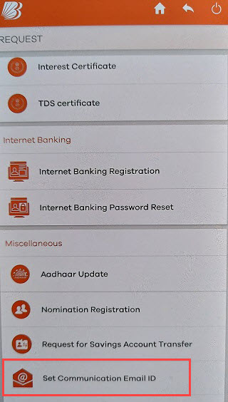 Bank of Baroda register email ID