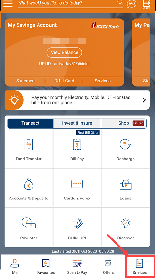 ICICI Mobile Banking services