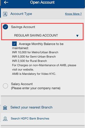HDFC Bank Online Account Opening (Insta Account)