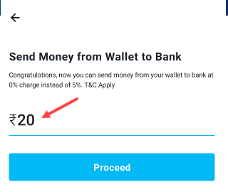 Paytm wallet to bank money transfer