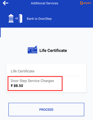 Submit life certificate door step banking