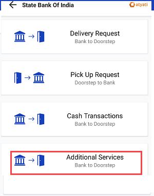 Doorstep Banking add Bank account