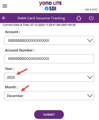 Track SBI Debit Card Status