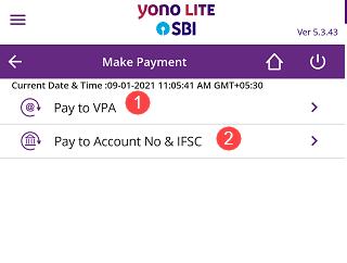 SBI Mobile Banking UPI Money Transfer